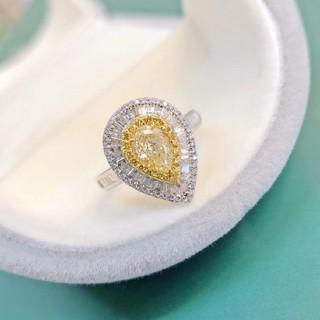 ♡Fancy Light Yellowダイヤモンドリング(リング(指輪))