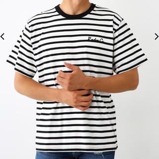 ロデオクラウンズワイドボウル(RODEO CROWNS WIDE BOWL)のロデオ★メンズ カラーパッチ Tシャツ/L(Tシャツ/カットソー(半袖/袖なし))