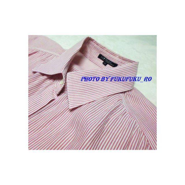 23区(ニジュウサンク)の23区シャツワンピース ピンク 大きい 美品ブラウス レディースのワンピース(ミニワンピース)の商品写真