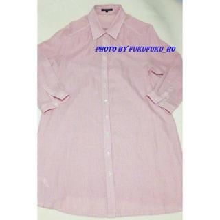 ニジュウサンク(23区)の23区シャツワンピース ピンク 大きい 美品ブラウス(ミニワンピース)