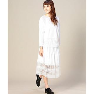 ビューティアンドユースユナイテッドアローズ(BEAUTY&YOUTH UNITED ARROWS)のユナイテッドアローズ 白スカート(ひざ丈スカート)