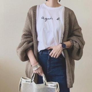アニエスベー(agnes b.)のアニエス・ベー ロゴ ロングtシャツ カットソー(Tシャツ(長袖/七分))