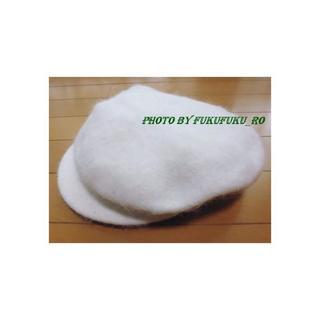 コムサイズム(COMME CA ISM)の未使用★コムサイズム アンゴラ帽子 57cm ファー(ハンチング/ベレー帽)