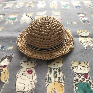 オビツ11 サイズ帽子(白黒リボン)(人形)