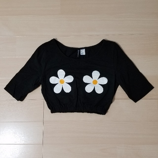 エイチアンドエム(H&M)の底値❗H&M  ショート丈Tシャツ(ダンス/バレエ)