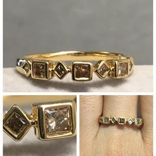 K18 ブラウンダイヤモンド リング(リング(指輪))