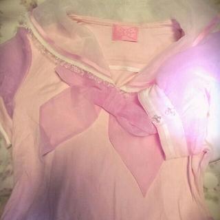 ベイビーザスターズシャインブライト(BABY,THE STARS SHINE BRIGHT)のBABY ピンクパーカー&angelic pretty半袖セーラー(パーカー)