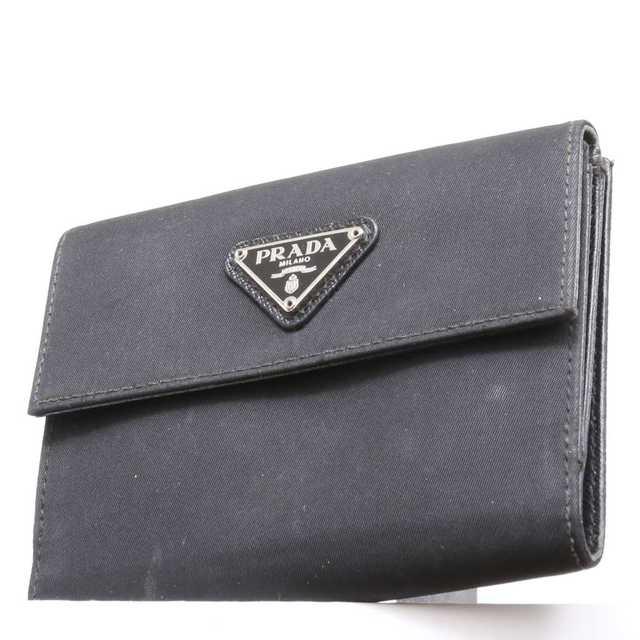 PRADA - 限界価格 本物 PRADA 二つ折り財布 黒 283の通販 by ご希望教えてください's shop|プラダならラクマ