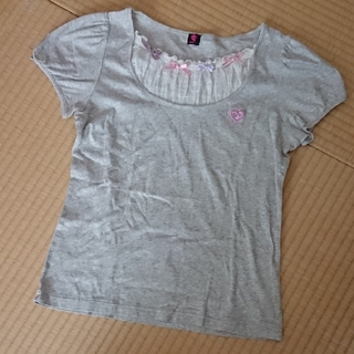メゾピアノジュニア(mezzo piano junior)のメゾピアノ 胸元が可愛い☆ Tシャツ(Tシャツ/カットソー)