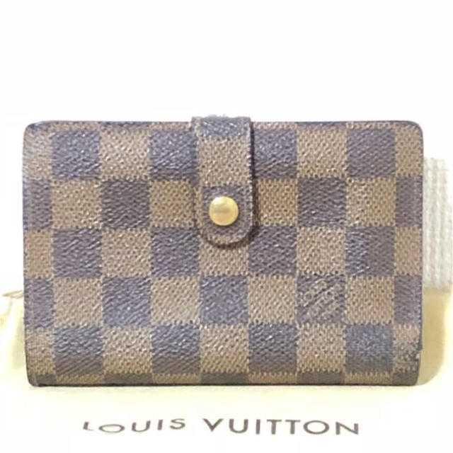 LOUIS VUITTON - セール!本物 ルイ ヴィトン ダミエ エベヌ がま口 二つ折り財布 正規品tの通販 by ご希望教えてください's shop|ルイヴィトンならラクマ