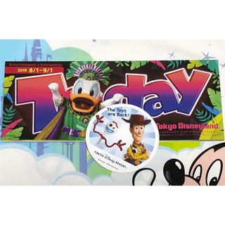 トイストーリー(トイ・ストーリー)の最新 ディズニーランド TODAY & フォーキーを探せ ステッカーシール(印刷物)