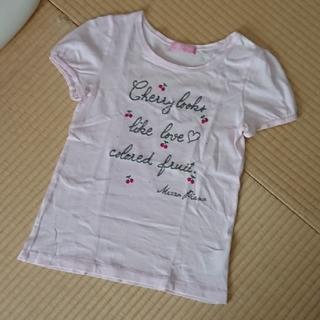 メゾピアノジュニア(mezzo piano junior)のメゾピアノ さくらんぼ Tシャツ L(Tシャツ/カットソー)