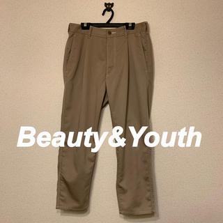 ビューティアンドユースユナイテッドアローズ(BEAUTY&YOUTH UNITED ARROWS)の[beauty&youth] ツイルステッチアウトストレートパンツ(スラックス)