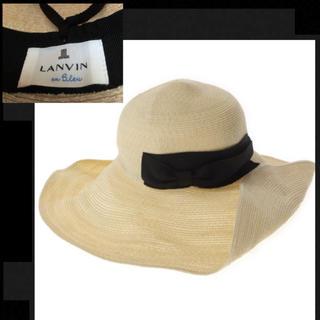 ランバンオンブルー(LANVIN en Bleu)のLANVIN en Bleuストローハット(麦わら帽子/ストローハット)