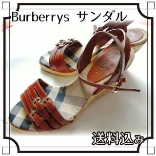 バーバリー(BURBERRY)の【美品】BURBERRYヒールサンダル(サンダル)