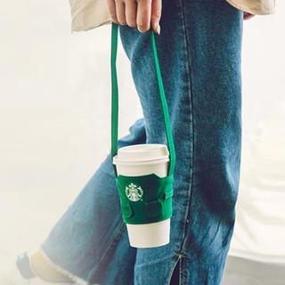 スターバックスコーヒー(Starbucks Coffee)の台湾 スターバックス グリーンエプロン ドリンクホルダー(日用品/生活雑貨)