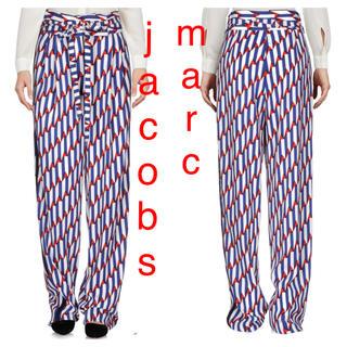マークジェイコブス(MARC JACOBS)の新品定価6万程 マークジェイコブス ハイウエスト 総柄 ワイドパンツ(カジュアルパンツ)