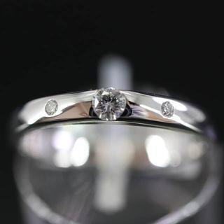 スタージュエリー(STAR JEWELRY)のスタージュエリー K18 3ポイント ダイヤモンド デザイン リング 11号(リング(指輪))