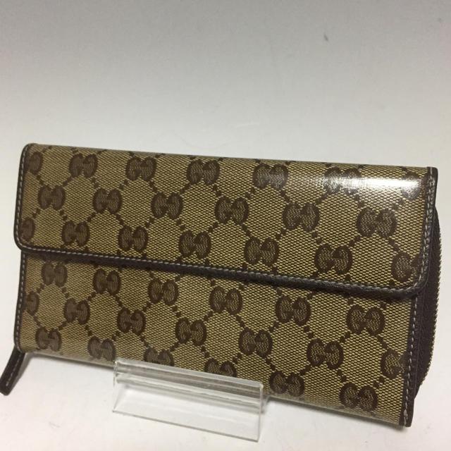 バレンシアガ 財布 中古 偽物 、 Gucci - GUCCI 未使用 クリスタル GG シマ 二つ折り 長財布 グッチの通販 by プロフ必読お願いします。|グッチならラクマ