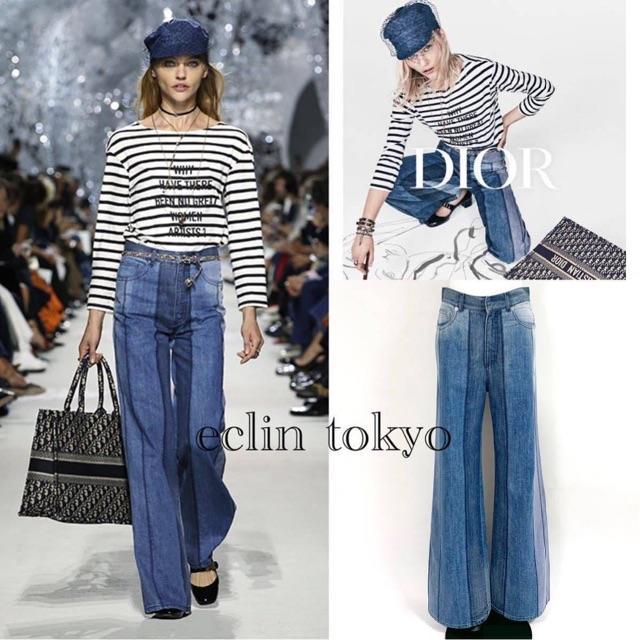Christian Dior(クリスチャンディオール)の新品同 ディオール 2018 デニム パンツ コレクション着 ジーンズE1492 レディースのパンツ(デニム/ジーンズ)の商品写真