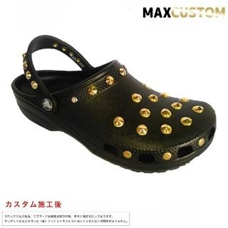 クロックス(crocs)のクロックス crocs ネオパンク カスタム 黒 金 サイズ22~30cm 新品(サンダル)