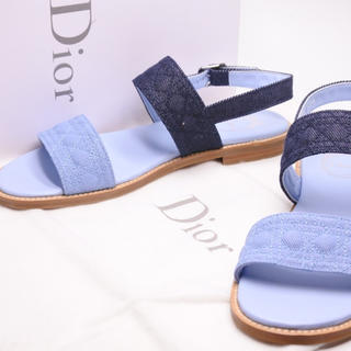 クリスチャンディオール(Christian Dior)のDIOR ディオール サンダル シューズ 靴 デニム 36 未使用 箱付き 正規(サンダル)