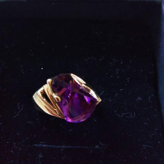 ☆新品未使用品☆アクセサリーリング オーストリアンクリスタル スワロフスキー 紫 レディースのアクセサリー(リング(指輪))の商品写真