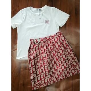 ディオール(Dior)のDior ディオール レディース Tシャツ スカート セット売れ(ひざ丈ワンピース)