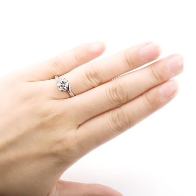 ※即日発送☞婚約指輪ギフト♥ジルコニア※金属アレ対応リング★指輪シルバー925 レディースのアクセサリー(リング(指輪))の商品写真