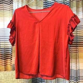ジーユー(GU)の未使用♡GU袖フリルシャツ(シャツ/ブラウス(半袖/袖なし))