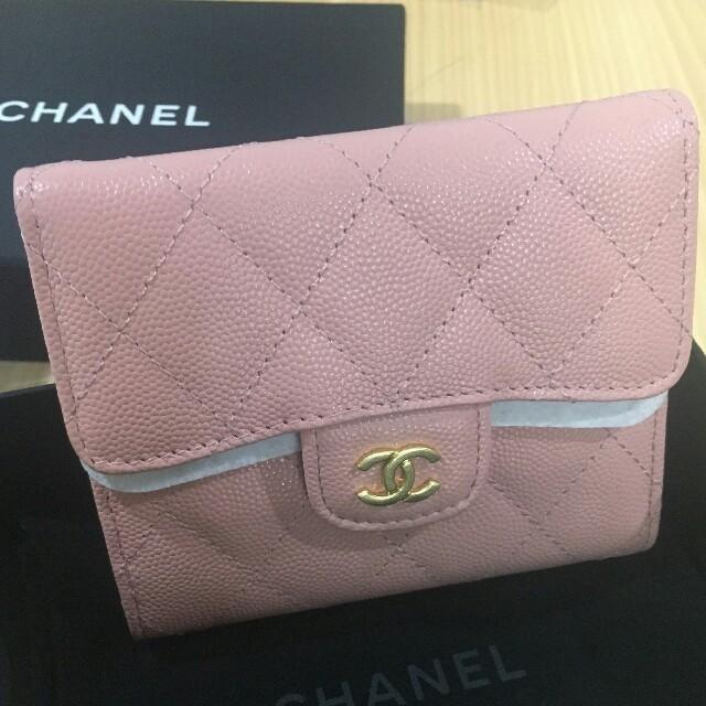CHANEL - シャネル ピンク 折り財布の通販 by フミノリ ◡̈*'s shop|シャネルならラクマ