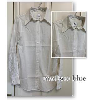 マディソンブルー(MADISONBLUE)のマディソンブルー 長袖 シャツ  ホワイト サイズ01  A016(シャツ/ブラウス(長袖/七分))