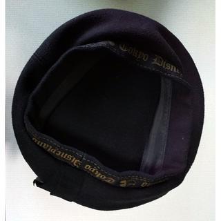 ディズニー(Disney)のディズニーベレー帽 黒(ハンチング/ベレー帽)