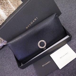 BVLGARI - 正規品☆ブルガリ 長財布 ロゴクリップ 黒 レザー バッグ 財布 メンズ 小物