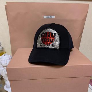 ミュウミュウ(miumiu)の♡ miumiu BLACK cute cap ♡(キャップ)