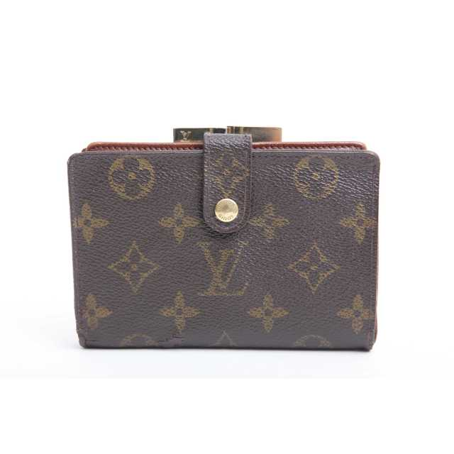 LOUIS VUITTON - 美品 良品 本物 ルイ ヴィトン モノグラム がま口 二つ折り財布 正規品tの通販 by ご希望教えてください's shop|ルイヴィトンならラクマ