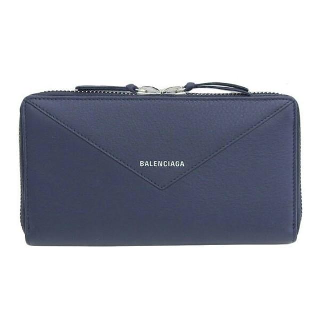 Balenciaga - BALENCIAGA ラウンドファスナー長財布 レザー ネイビーの通販 by ヨシオ-supreme's shop|バレンシアガならラクマ