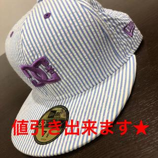 DC SHOE - DC NEWERA 白 紫 青 ストライプ