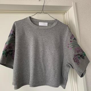 マメ(mame)のmame Grey T-shirts (Tシャツ(半袖/袖なし))
