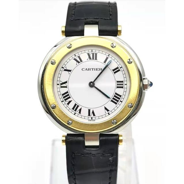Cartier - Cartier  カルティエ  K18YG/SS  サントス ラウンド  時計の通販 by MAU|カルティエならラクマ