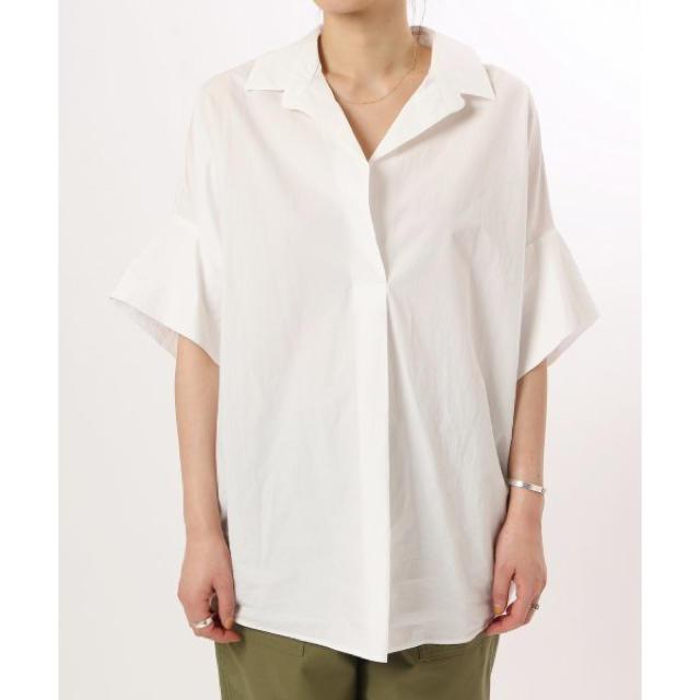 Plage(プラージュ)の抜け襟オーバーシャツ プラージュ  Plage 新品未使用タグ付き レディースのトップス(シャツ/ブラウス(半袖/袖なし))の商品写真