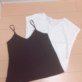 ジーユー(GU)のキャミ、Tシャツ セット(Tシャツ(半袖/袖なし))