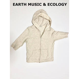 アースミュージックアンドエコロジー(earth music & ecology)のアースミュージック&エコロジー 5分丈 花柄 前開き パーカー(パーカー)