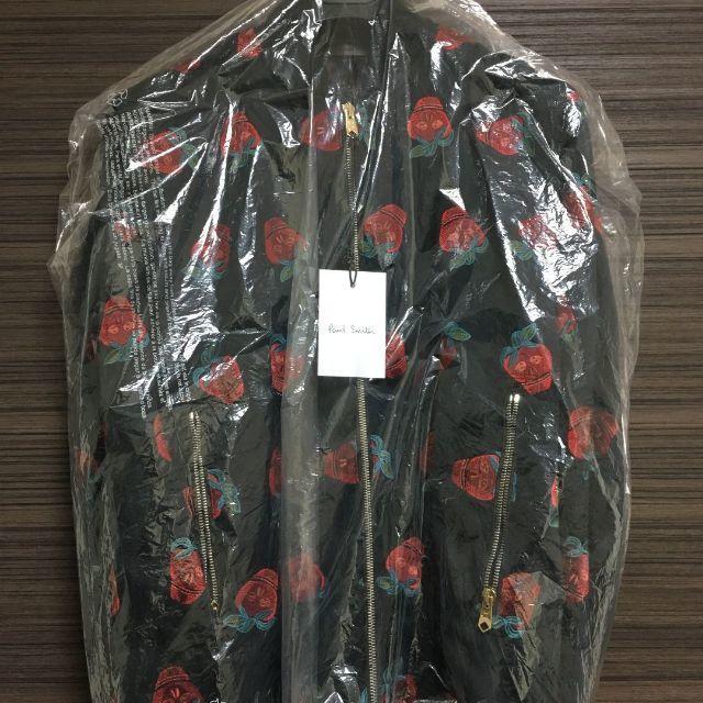 Paul Smith(ポールスミス)の新品 Sサイズ ポールスミス ジャケット ストロベリースカル 黒 ブルゾン メンズのジャケット/アウター(ブルゾン)の商品写真