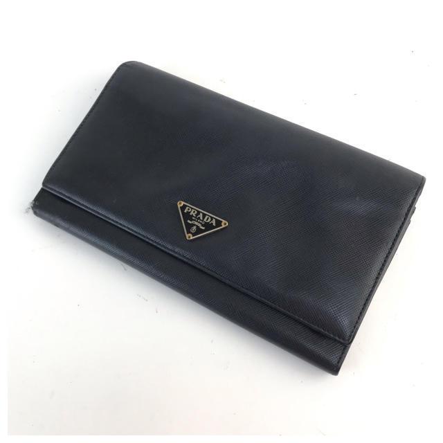 PRADA - ❤️セール❤️ プラダ PRADA 二つ折り長財布 レディース ブラックの通販 by 即購入ok ブランドショップ's shop|プラダならラクマ