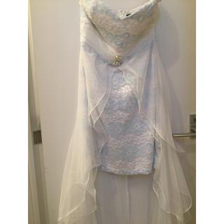 ジュエルズ(JEWELS)のホワイト×ブルー ドレス(ナイトドレス)