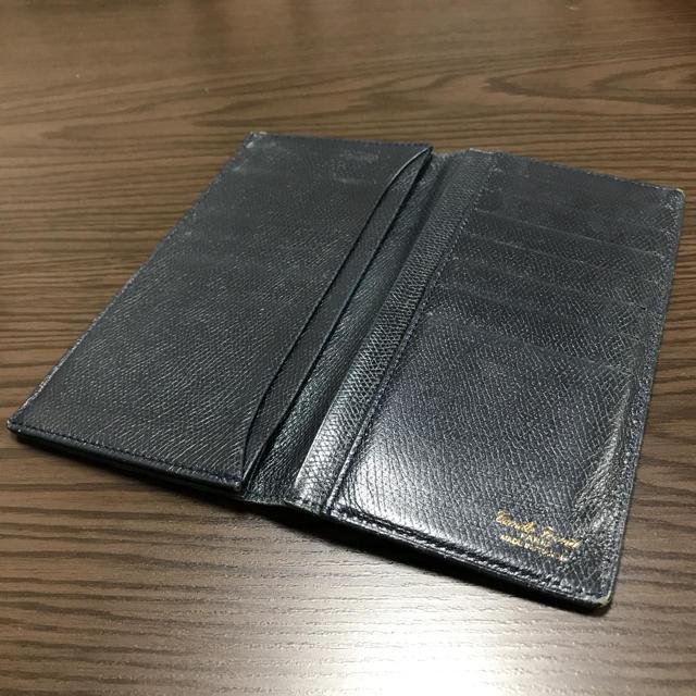 傷あり格安❣️カミーユフォルネ ネイビー 長財布 小銭入れ無しの通販 by chiro6|ラクマ