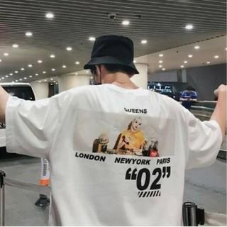 バックフォトプリントシャツ ホワイト Mサイズ(Tシャツ/カットソー(半袖/袖なし))