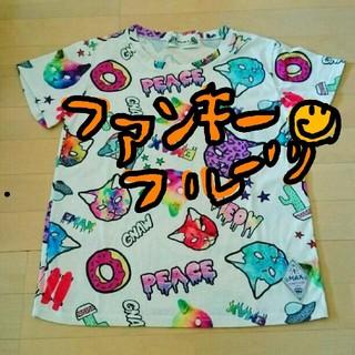 ファンキーフルーツ(FUNKY FRUIT)のファンキーフルーツ ☺ クレイジーネコちゃんトップス(Tシャツ(半袖/袖なし))