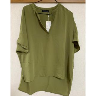 アーバンリサーチ(URBAN RESEARCH)の新品 未使用 タグ付き アーバンリサーチ  襟なし半袖シャツ (シャツ/ブラウス(長袖/七分))
